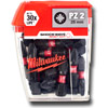Milwaukee 4932430864 Shockwave 25 Piece PZ2 25mm Screwdriver Bits