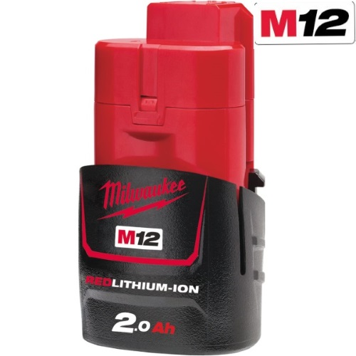 Milwaukee M12B2 M12 2.0Ah Red Lithium-Ion Battery