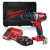 Milwaukee M18BLPD2-502X 18v Combi Drill Kit with 2 x 5Ah Batteries