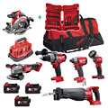 Milwaukee M18FPP6B-503B Kit With FOC 48 PCE Shockwave Set 4932430906