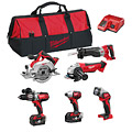 Milwaukee M18PP6B-402B M18 Six Item Power Tool Kit
