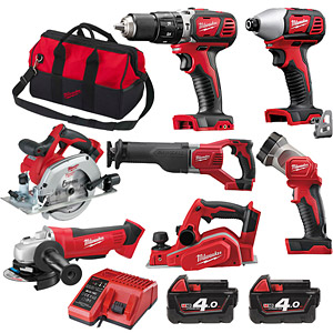 Milwaukee  M18BPP7A-402B M18 Brushed 7 Piece Combo Kit