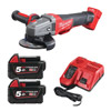 Milwaukee M18CAG115XPDB-502X 115mm 18v Braking Angle Grinder Kit