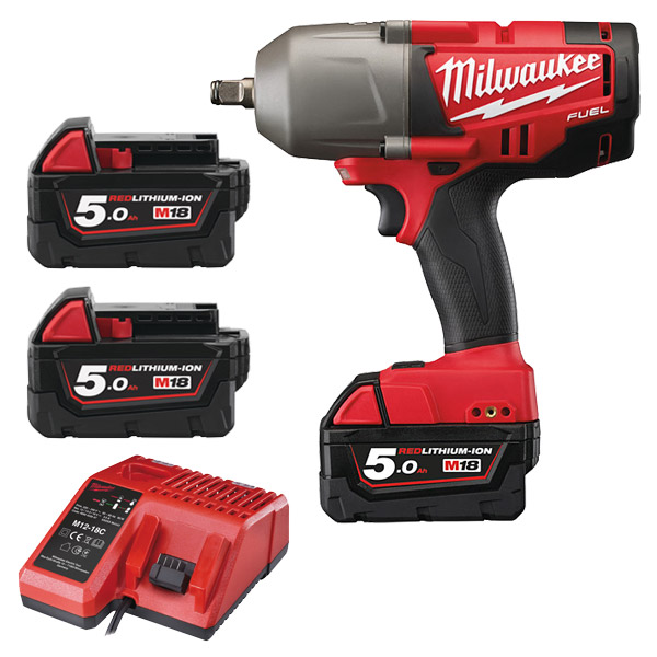 "Milwaukee M18CHIWF12-503X FUEL Impact Wrench 1/2"" FR"