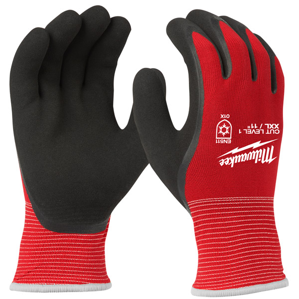 Milwaukee Winter Cut Level 1 Dipped Gloves (Large) 4932471344