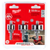 Milwaukee 49224800 3 Piece SHOCKWAVE Impact Duty Holesaw Set