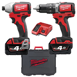 Milwaukee M18BLPP2B-402C Brushless Twin Pack