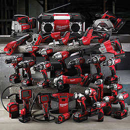 Milwaukee Cordless Power Tool Range