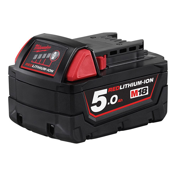Milwaukee M18B5 5.0Ah Red Lithium-Ion Battery