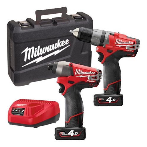 Milwaukee Twin Pack M12PP2A-402C M12 Fuel (M12CPD, M12CID)