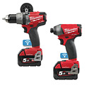Milwaukee M18ONEPP2A-502X One Key Drill/Driver Twin Pack