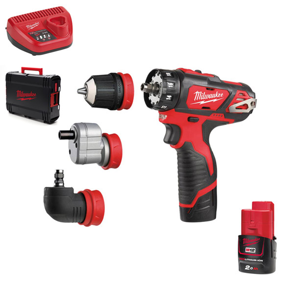 Milwaukee 4-IN-1 Drill Driver Kit M12BDDXKIT-202C