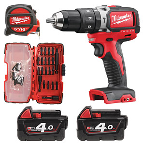 Milwaukee M18blpd 402ca Brushless Percussion Drill Set