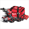 Milwaukee M18FPP4N-524B 18V FUEL 4 Item Kit (Grinder, Combi, Impact, Torch, 3 x 5Ah)