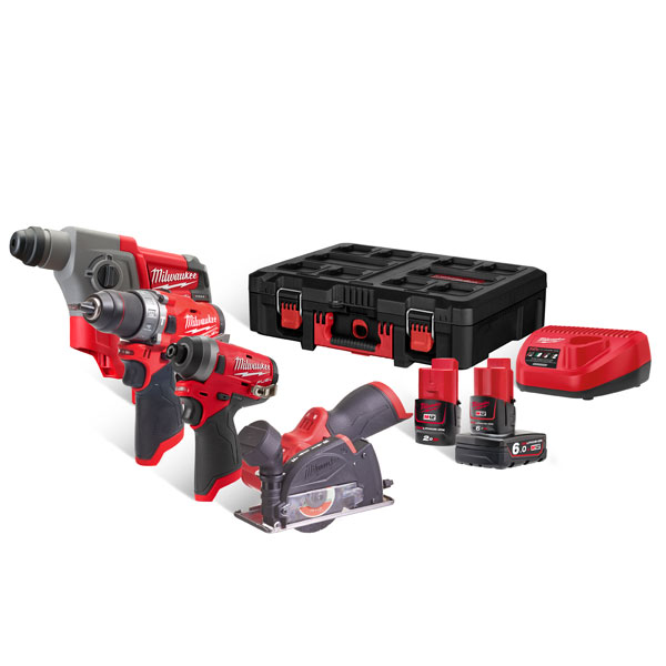 Milwaukee M12 4-Tool POWERPACK Kit M12FPP4A-622P