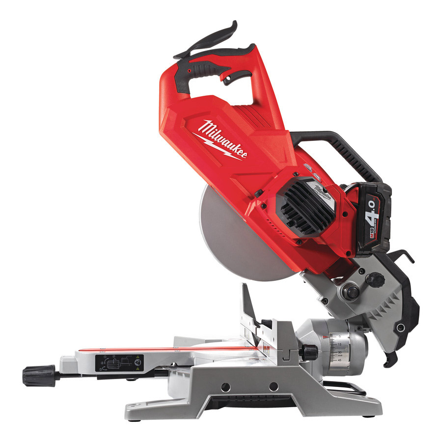 Milwaukee Laser Wall For Saw : Milwaukee m sms v cordless mitre saw